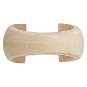 bracelet, cuff, wood (natural), 20-41mm wide hand-carved tapered concave band, 8 inches. sold individually.