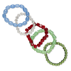 5 multicolored bracelet pkg