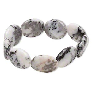 bracelet, stretch, desert pink marble (natural), 19x14mm-20x15mm puffed oval, 6 inches. sold individually.