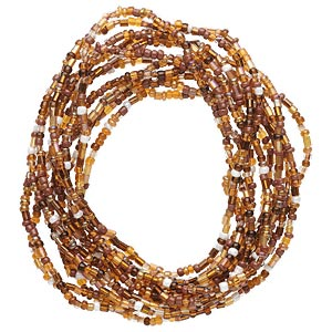 bracelet, stretch, glass, amber yellow, 3mm wide, 7 inches. sold per pkg of 12.