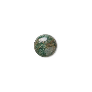 cabochon, african jade (natural), 12mm calibrated round, b grade, mohs hardness 7. sold per pkg of 2.