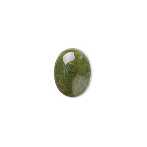 cabochon, african jade (natural), 16x12mm calibrated oval, b grade, mohs hardness 7. sold individually.