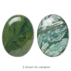 cabochon, african jade (natural), 40x30mm calibrated oval, b grade, mohs hardness 7. sold individually.