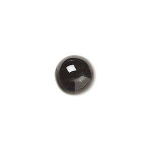 cabochon, black star diopside (natural), 10mm non-calibrated round, c grade, mohs hardness 5-1/2 to 6. sold individually.