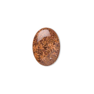 cabochon, chrysanthemum stone (natural), 18x13mm calibrated oval, b grade, mohs hardness 3 to 4. sold per pkg of 4.