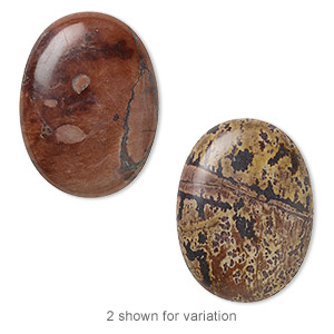 cabochon, crazy horse™ stone (coated), 40x30mm calibrated oval, b grade, mohs hardness 3-1/2 to 4. sold individually.