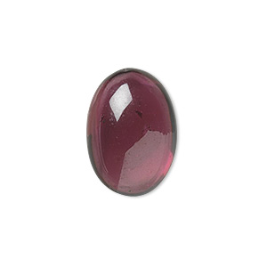 cabochon, garnet (natural), 7x5mm hand-cut calibrated oval, b grade, mohs hardness 7 to 7-1/2. sold per pkg of 2.
