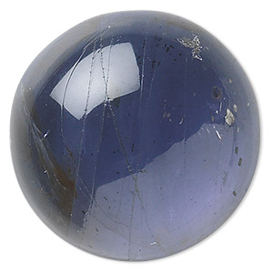 cabochon, iolite (natural), 8mm hand-cut calibrated round, b grade, mohs hardness 7 to 7-1/2. sold individually.