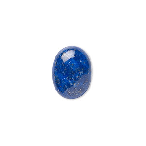 cabochon, lapis lazuli (natural), 16x12mm calibrated oval, b grade, mohs hardness 5 to 6. sold per pkg of 2.