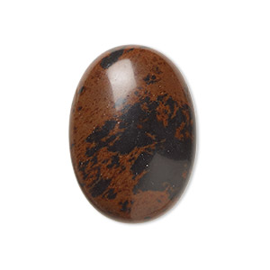 cabochon, mahogany obsidian (natural), 25x18mm calibrated oval, b grade, mohs hardness 5 to 5-1/2. sold per pkg of 2.