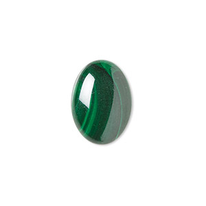 cabochon, malachite (natural), 18x13mm calibrated oval, b grade, mohs hardness 3-1/2 to 4. sold individually.