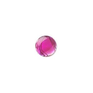 cabochon, paua shell (coated / dyed), pink, 10mm calibrated round, mohs hardness 3-1/2. sold per pkg of 6.