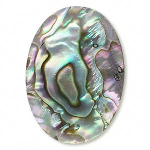 cabochon, paua shell (coated), 25x18mm calibrated oval, mohs hardness 3-1/2. sold individually.