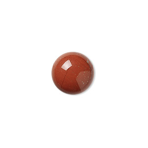 cabochon, red jasper (natural), 14mm calibrated round, b grade, mohs hardness 6-1/2 to 7. sold per pkg of 4.