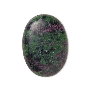 cabochon, ruby in zoisite (natural), medium to dark, 30x22mm calibrated oval, b grade, mohs hardness 6 to 7. sold individually.