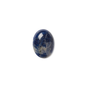 cabochon, sodalite (natural), 16x12mm calibrated oval, b grade, mohs hardness 5 to 6. sold per pkg of 2.