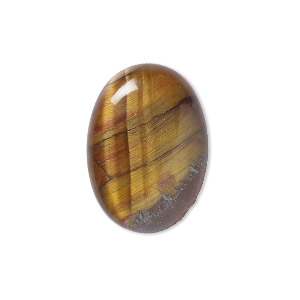 cabochon, tigereye (natural), 25x18mm calibrated oval, b grade, mohs hardness 7. sold individually.