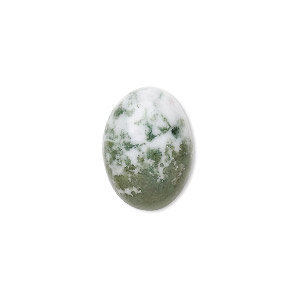 cabochon, tree agate (natural), 18x13mm calibrated oval, b grade, mohs hardness 6-1/2 to 7. sold per pkg of 2.