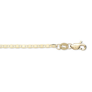 chain, 14kt gold, 1.7mm anchor, 18 inches with lobster claw clasp. sold individually.