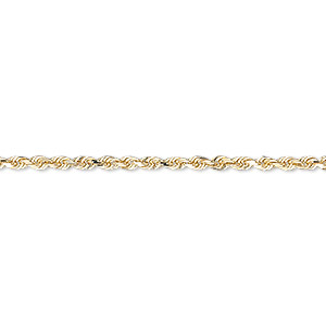 chain, 14kt gold, 2mm diamond-cut french rope, 18 inches with lobster claw clasp. sold individually.