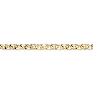 chain, 14kt gold-filled, 3mm cable. sold per pkg of 5 feet.