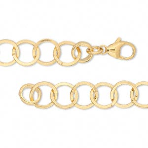 chain, 14kt gold-filled, 8mm smooth round, 18 inches with lobster claw clasp. sold individually.