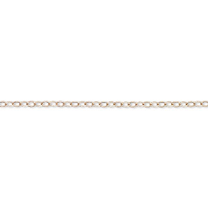 chain, 14kt rose gold-filled, 1.6mm flat cable. sold per 5-foot spool.