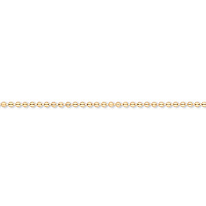 chain, gold-finished brass, 1mm ball, 16 inches with 1-inch extender chain and lobster claw clasp. sold per pkg of 4.