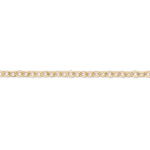 chain, gold-finished brass, 2mm cable, 18 inches with 1-inch extender chain and lobster claw clasp. sold per pkg of 4.