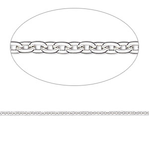 chain, gossamer™, sterling silver, 1.2mm round cable, 18 inches. sold individually.