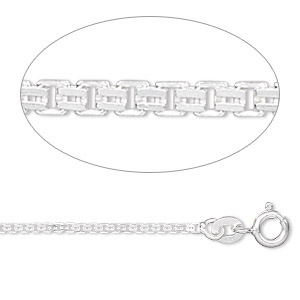 chain, sterling silver, 1.4mm double venetian, 16 inches. sold individually.