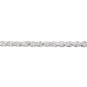 chain, sterling silver, 2.75mm french rope, 16 inches. sold individually.