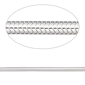 chain, sterling silver, 2mm snake, 24 inches. sold individually.
