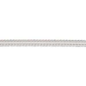 chain, sterling silver, 3mm hammered foxtail, 6-1/2 inches. sold individually.
