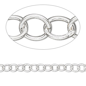 chain, sterling silver, 4.5mm round. sold per pkg of 5 feet.