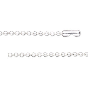 chain, sterling silver and sterling silver-filled, 2.1mm ball, 16 inches with ball chain connector. sold individually.