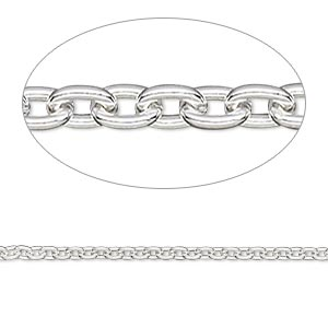 chain, sterling silver-filled, 2mm cable. sold per pkg of 5 feet.