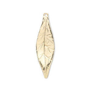 charm, 14kt gold-filled, 29x9mm marquise leaf. sold individually.