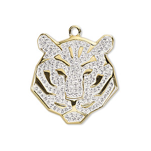 Swarovski pav tiger pendant 67511 charms pendants and drops charm swarovski crystal epoxy gold plated brass crystal clear 22x21mm pav tiger pendant 67511 sold per pkg of 6 other package sizes here mozeypictures Gallery