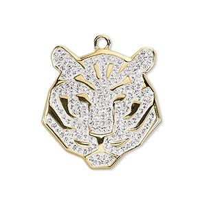 Swarovski pav tiger pendant 67511 fire mountain gems and beads 1 drop pkg mozeypictures Gallery