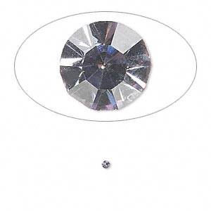 chaton, glass rhinestone, lavender, foil back, 1.6-1.7mm faceted round, pp10. sold per pkg of 72.