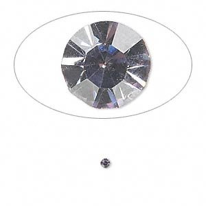 chaton, glass rhinestone, lavender, foil back, 1.9-2.0mm faceted round, pp13. sold per pkg of 72.