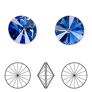 2053cd7f0 Chaton, Swarovski® crystal rhinestone, sapphire, foil back, 18mm faceted  rivoli (1122). Sold per pkg of 2. Other Package Size(s) Here