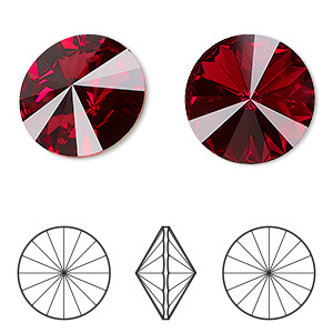 6017d1fe9 Chaton, Swarovski® crystal rhinestone, scarlet, foil back, 18mm faceted  rivoli (1122). Sold per pkg of 2. Other Package Size(s) Here