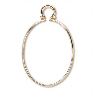 cinch mount, 14kt gold, 25x18mm oval. sold individually.