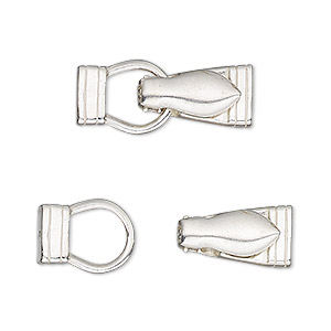 clasp, jbb findings, magnetic fold-over, sterling silver, 25x10mm irregular rectangle. sold individually.