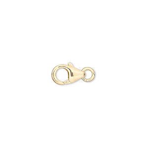 clasp, lobster claw, 14kt gold-filled, 10x6mm with 4mm jumpring. sold individually.