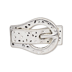 clasp, magnetic, antique silver-plated pewter (zinc-based alloy), 32x23mm textured buckle with glue-in ends, 10x2mm hole. sold individually.