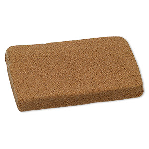 clay, moldable cork, 6 x 4 x 3/4 inch. sold per 8-ounce pkg.