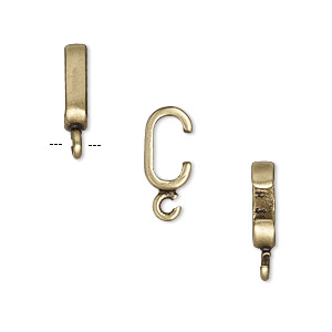 component, jbb findings, antiqued brass, 10x2.5mm rondelle with open loop, 7x3mm inside diameter. sold per pkg of 2.